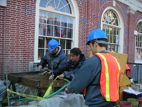 An on going archaeology dig at Faneuil Hall that is a stop on our Big Dig walking tour